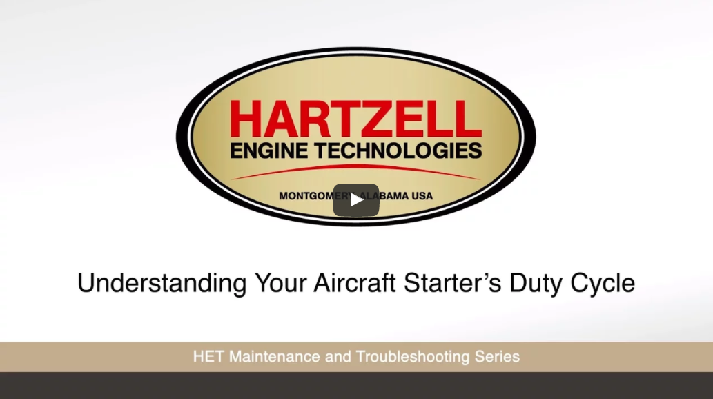 Watch Understanding Your Aircraft Starter's Duty Cycle